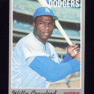 1970 Topps Baseball #034 Willie Crawford - Los Angeles Dodgers