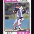 1974 Topps Baseball #020 Nolan Ryan - California Angels