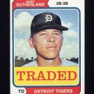 1974 Topps Traded #428T Gary Sutherland - Detroit Tigers