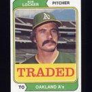 1974 Topps Traded #062T Bob Locker - Oakland A's