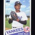 1985 Topps Baseball #238 Jose Rijo RC - New York Yankees