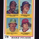 1978 Topps Baseball #711 Cardell Camper / Dennis Lamp / Craig Mitchell / Roy Thomas