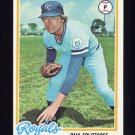 1978 Topps Baseball #638 Paul Splittorff - Kansas City Royals