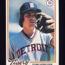 1978 Topps Baseball #633 Tom Veryzer - Detroit Tigers