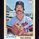 1978 Topps Baseball #627 David Johnson - Minnesota Twins