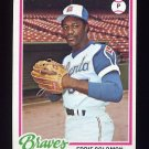1978 Topps Baseball #598 Eddie Solomon - Atlanta Braves