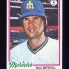 1978 Topps Baseball #558 Paul Mitchell - Seattle Mariners