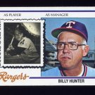 1978 Topps Baseball #548 Billy Hunter MG - Texas Rangers