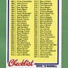 1978 Topps Baseball #535 Checklist 485-605