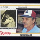 1978 Topps Baseball #522 Dick Williams MG - Montreal Expos ExMt