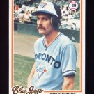 1978 Topps Baseball #521 Steve Staggs RC - Toronto Blue Jays
