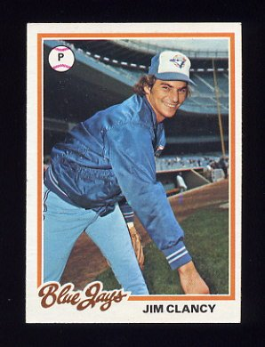 1978 Topps Baseball 496 Jim Clancy Rc Toronto Blue Jays