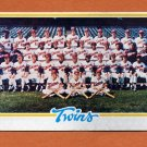 1978 Topps Baseball #451 Minnesota Twins Team Checklist