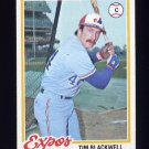 1978 Topps Baseball #449 Tim Blackwell RC - Montreal Expos