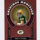 2004 Playoff Prestige Gridiron Heritage Insert #GH08 Brett Favre - Green Bay Packers