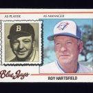 1978 Topps Baseball #444 Roy Hartsfield MG - Toronto Blue Jays