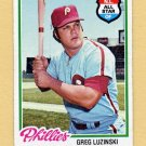 1978 Topps Baseball #420 Greg Luzinski - Philadelphia Phillies Ex