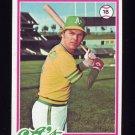 1978 Topps Baseball #406 Mike Jorgensen - Oakland A's