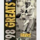 1998 Ultra Gold Medallion #365G Brett Favre - Green Bay Packers