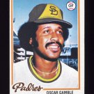 1978 Topps Baseball #390 Oscar Gamble - San Diego Padres