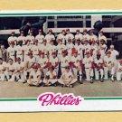 1978 Topps Baseball #381 Philadelphia Phillies Team Checklist Unmarked