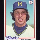 1978 Topps Baseball #355 Bill Travers - Milwaukee Brewers