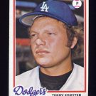1978 Topps Baseball #347 Terry Forster - Los Angeles Dodgers