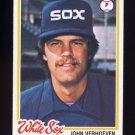 1978 Topps Baseball #329 John Verhoeven - Chicago White Sox