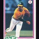 1978 Topps Baseball #327 Rick Langford RC - Oakland A's