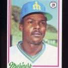 1978 Topps Baseball #311 Jose Baez RC - Seattle Mariners