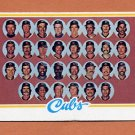 1978 Topps Baseball #302 Chicago Cubs Team Checklist