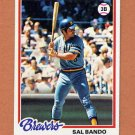 1978 Topps Baseball #265 Sal Bando - Milwaukee Brewers NM-M