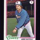 1978 Topps Baseball #264 Jamie Easterly - Atlanta Braves