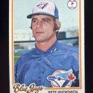 1978 Topps Baseball #241 Pete Vuckovich - Toronto Blue Jays Ex