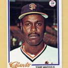 1978 Topps Baseball #236 Terry Whitfield - San Francisco Giants