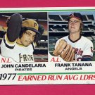 1978 Topps Baseball #207 ERA Leaders John Candelaria / Frank Tanana NM-M