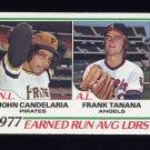 1978 Topps Baseball #207 ERA Leaders John Candelaria / Frank Tanana ExMt