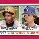 1978 Topps Baseball #204 Stolen Base Leaders Frank Taveras / Freddie Patek NM-M
