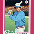 1978 Topps Baseball #187 Jerry Royster - Atlanta Braves