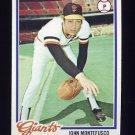 1978 Topps Baseball #142 John Montefusco - San Francisco Giants