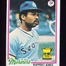 1978 Topps Baseball #141 Ruppert Jones - Seattle Mariners