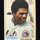 1978 Topps Baseball #134 Steve Henderson RC - New York Mets