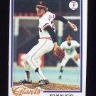 1978 Topps Baseball #107 Ed Halicki - San Francisco Giants