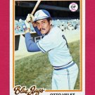 1978 Topps Baseball #059 Otto Velez - Toronto Blue Jays