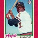 1978 Topps Baseball #048 Don Baylor - California Angels Ex