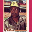 1978 Topps Baseball #030 George Hendrick - San Diego Padres Ex