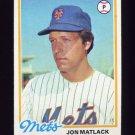 1978 Topps Baseball #025 Jon Matlack - New York Mets
