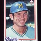 1978 Topps Baseball #024 Don Money - Milwaukee Brewers