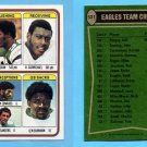 1978 Topps Football #521 Philadelphia Eagles Team Leaders