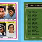 1978 Topps Football #509 Detroit Lions Team Leaders